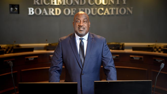 New Richmond County School Superintendent Dr. Kenneth Bradshaw poses for a photo at the RCBOE office in Augusta, Ga., Thursday morning September 26, 2019.  [MICHAEL HOLAHAN/THE AUGUSTA CHRONICLE] \r