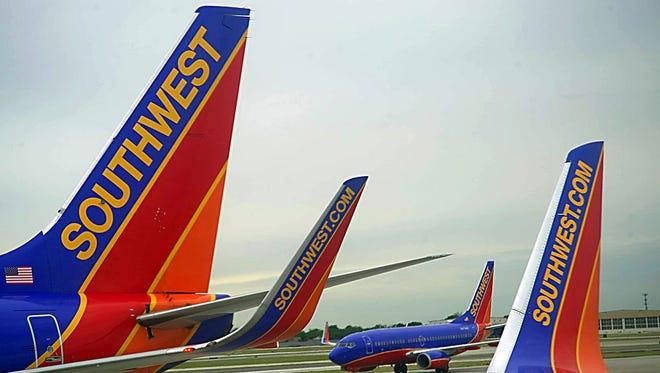 Southwest Airlines passenger planes.
