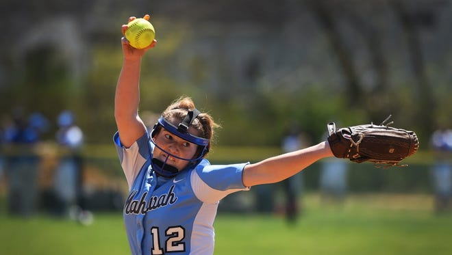 Mahwah senior pitcher Emily August is 4-1 with a 1.75 ERA for the Thunderbirds.