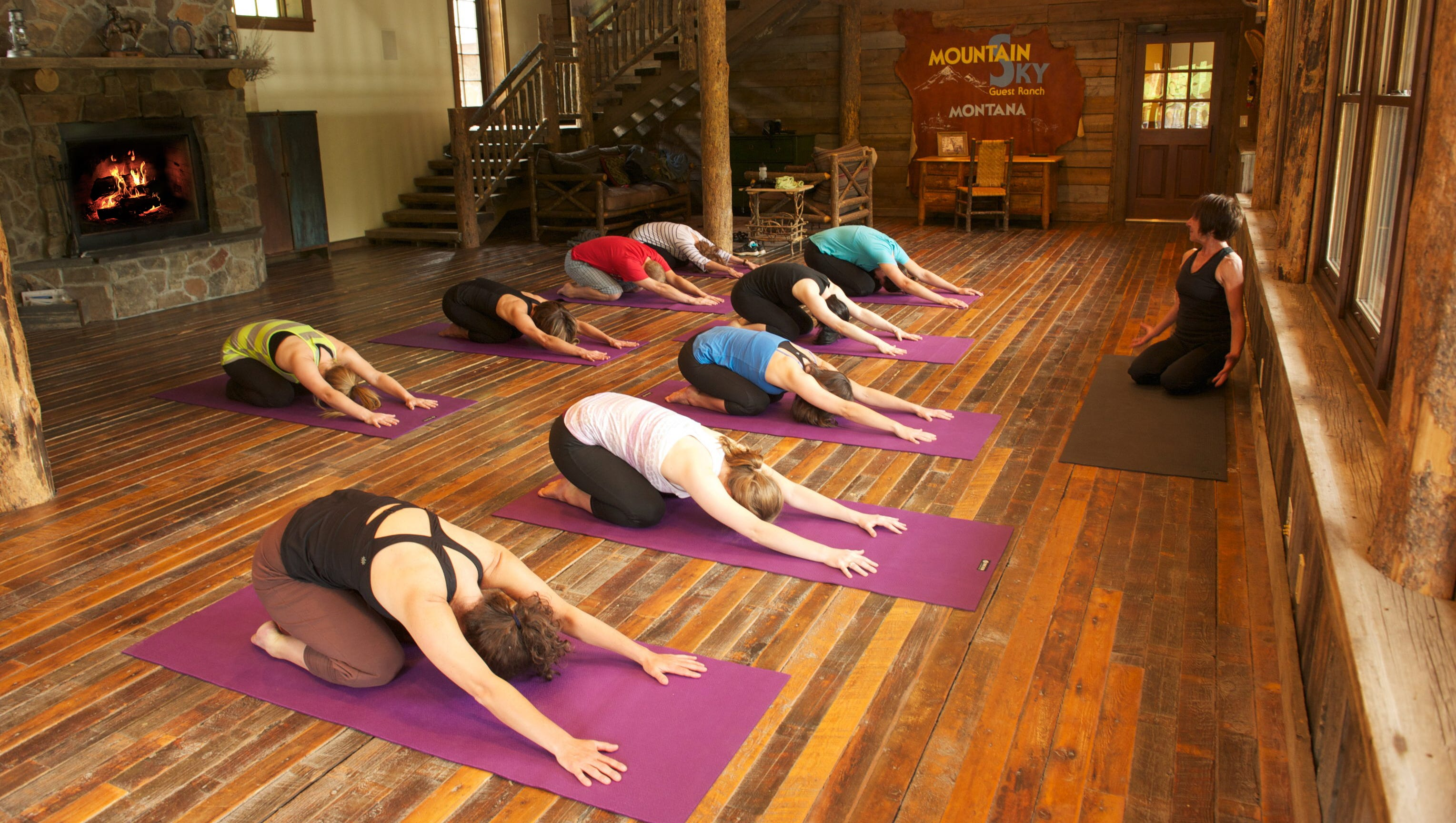 Mountain Sky Guest Ranch also offers yoga classes, a spa, golf, hiking, fly-fishing, and a fitness center.