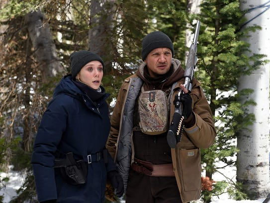 Elizabeth Olsen and Jeremy Renner hunt for a killer