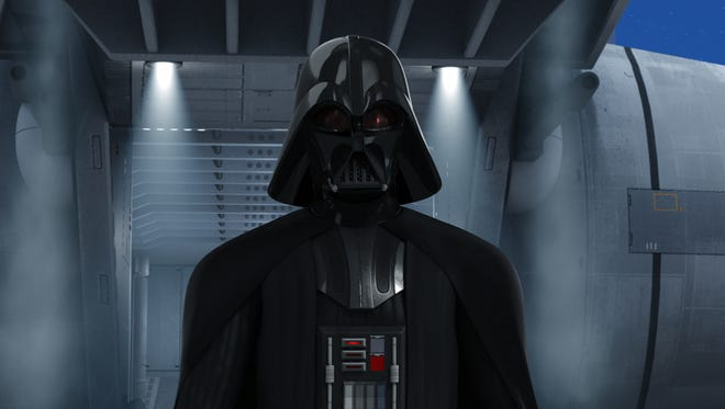 """Darth Vader arrived on a galactic stage in the last scene of the """"Star Wars Rebels"""" season finale."""
