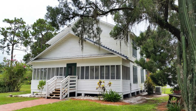 The Roberts family home is shown part of the Immokalee Pioneer Museum at Roberts Ranch. The two-story home was completed in 1926 by Robert Roberts and his older brother, Charles.