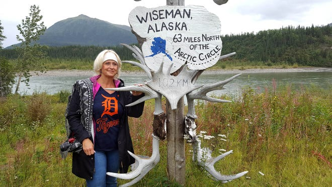 Laura Sneary from Rochester Hills took the D to Wiseman, Alaska 63 miles north of the Arctic Circle in August 2017. Wiseman has a population of 11. She  was on an Alaska cruise and there was an excursion from Fairbanks to Wiseman.
