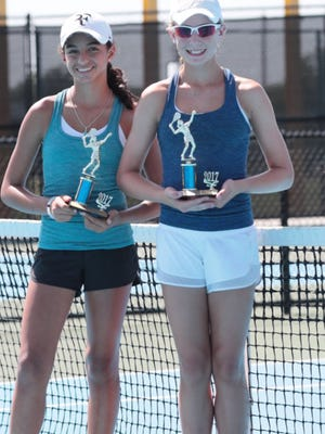 Wichita Falls' Kate Wurster (right) and partner Santianna Chrysopoulo took fourth place at the USTA Summer Grand Slam in Abilene.