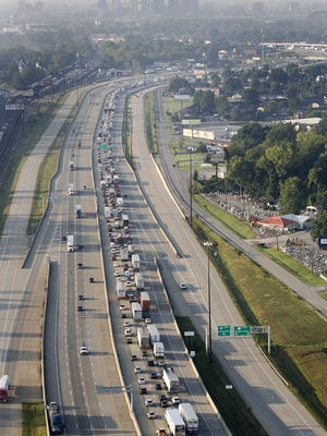 Interstate paving work will likely cause delays.