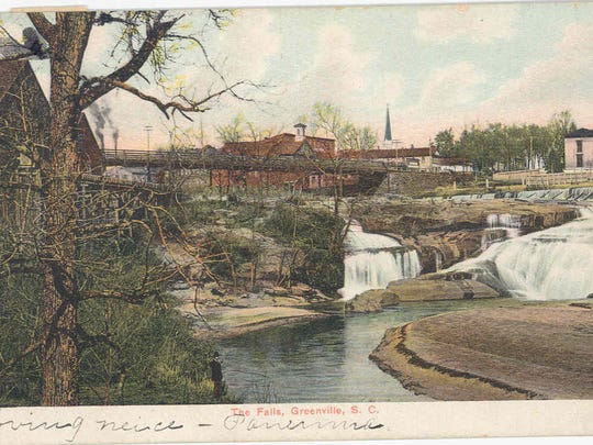 """This c. 1908 postcard identified the waterfall simply as """"The Falls."""""""