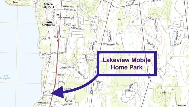 Lakeview Mobile Home Park, Shelburne, VT.