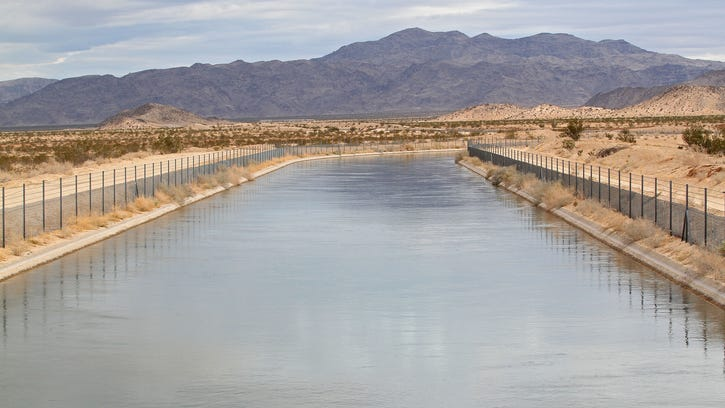 The Coachella Valley obtains water from the Colorado