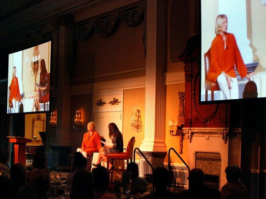 Martha Stewart speaking at the Robert Wood Johnson University Hospital (RWJUH) Health Fair, a free event to promote health and overall wellness in the community held at The Palace in Somerset on Monday.