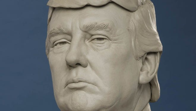A Donald Trump wax figure is under way for Madame Tussauds in Orlando, Washington, D.C., New York and London. It will be on display in time for the 45th president of the United States' inauguration Jan. 20, 2017.