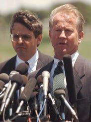 Merrick Garland, left, then a Justice Department official,