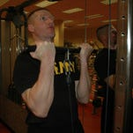 Sergeant Major of the Army Dan Dailey conducts PT on April 14 at Fort Meyer,  Va.