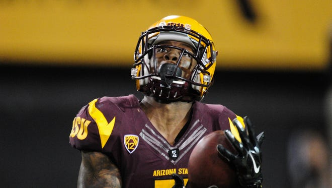 Kyle Middlebrooks catches a punt during the second half against Weber State on Aug. 28, 2014, at Sun Devil Stadium in Tempe.
