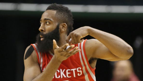 Rockets guard James Harden does his stirring-the-pot