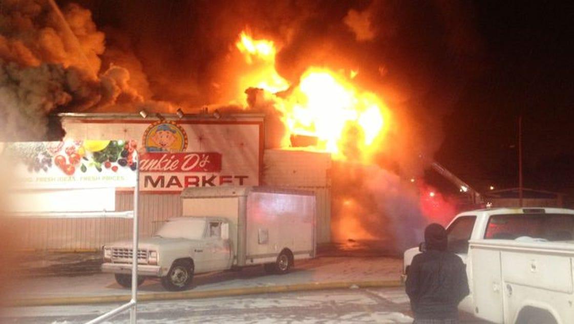 10: Fire destroys landmark former Ross store