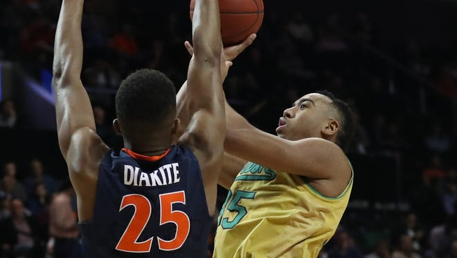 Bonzie Colson (35) scored a game-high 21 points for Notre Dame.