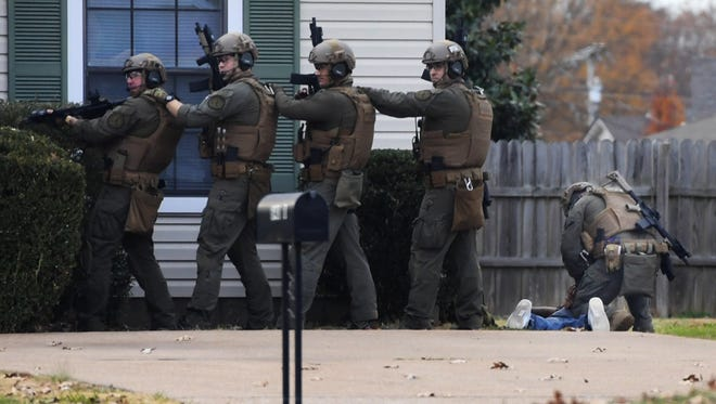 An unidentified male surrendered to Jackson Police SWAT officers, Friday, Dec. 1, on Old Humboldt Rd. Police responded to a report of a woman being held against her will.