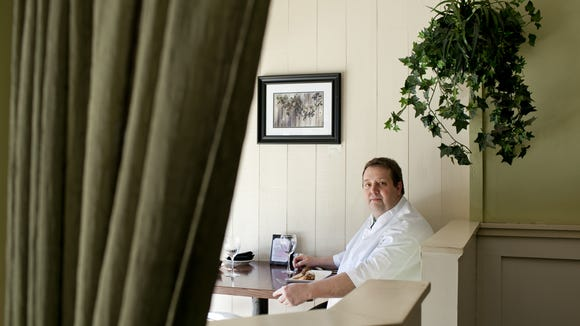 Fred Kellermann sits in Elements Cafe in Haddon Heights