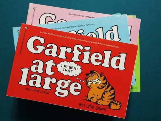 """Garfield at Large"" became a New York Times Best Seller"