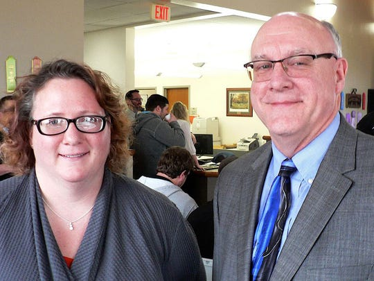 Dr. Tera Montgomery, Associate Professor of Dairy and Animal Science and Dr. Michael Compton, director of the UW-Platteville School of Agriculture are proud of the new Dairy Science major.