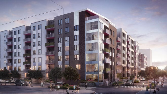 Capital Investment Group plans a seven-story apartment structure, along with 9,000 square feet of commercial space and the incorporation of an existing 310-space garage in the project targeted for the east side of Fourth between Guthrie and Chestnut streets.