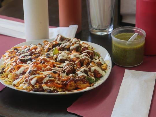Mixed Gyro Platter (salted onion, mushrooms, green