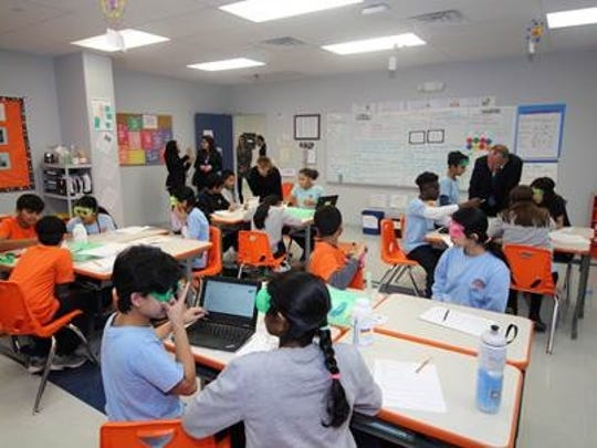 State education officials recently visited the new home of the Franklin-based Thomas Edison EnergySmart Charter School on Pierce Street.