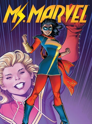 """After gaining shape-shifting abilities, Muslim-American teenager Kamala Khan takes after her idol Captain Marvel and becomes a superhero in """"Ms. Marvel."""""""
