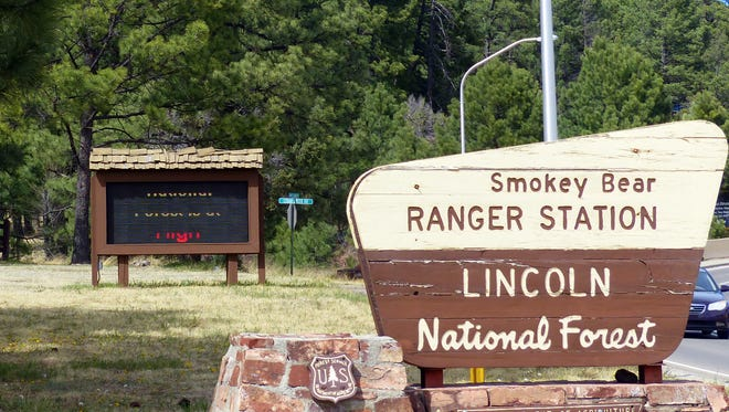 The Smokey Bear Ranger District office of the Lincoln National Forest is in Ruidoso.