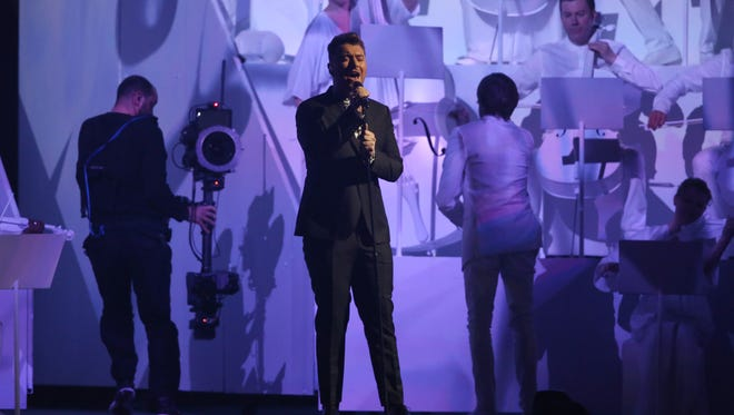 Sam Smith performs at Brit Awards in London, Feb. 25.