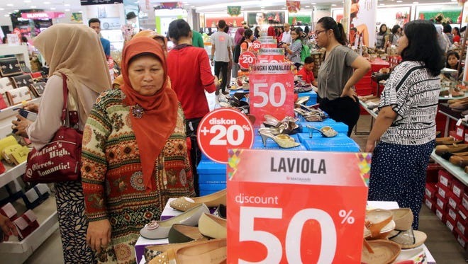 A shopping mall in Medan, North Sumatra Province, Indonesia, on Dec. 16, 2015.
