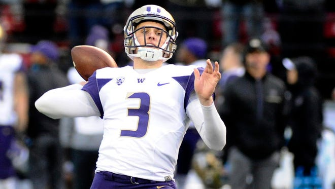 Washington quarterback Jake Browning threw 42 touchdown passes this season with only seven interceptions.