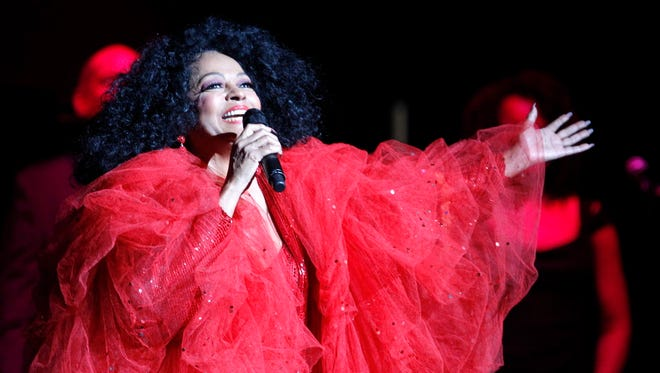 Diana Ross performs at the BMO Harris Pavilion on the Summerfest grounds July 14.