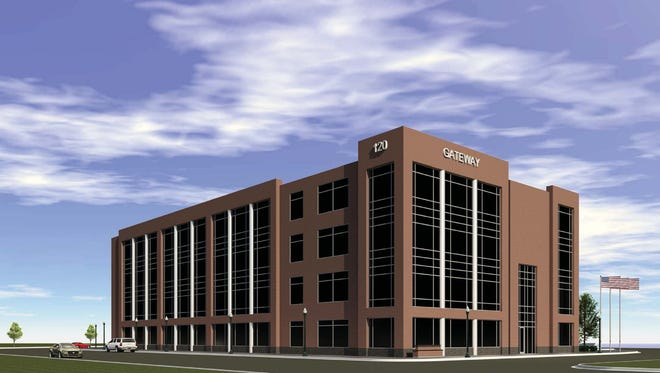 The latest rendering of the future Gateway building, which will start construction next month.
