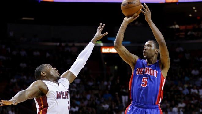 Detroit Pistons guard Kentavious Caldwell-Pope (5)