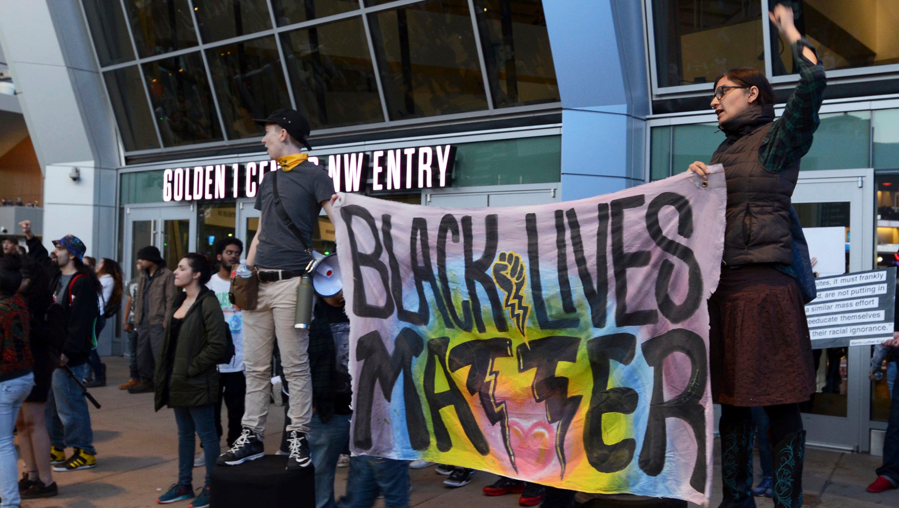 Black Lives Matter Protesters Block Thousands From Attending NBA Game