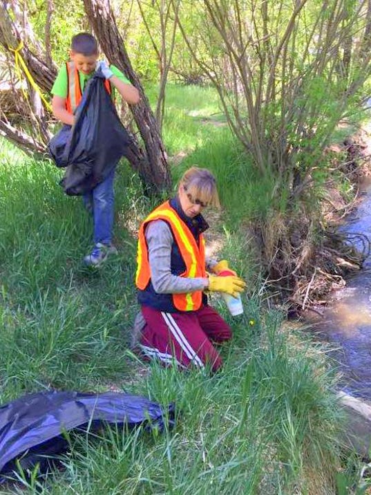clean up at river