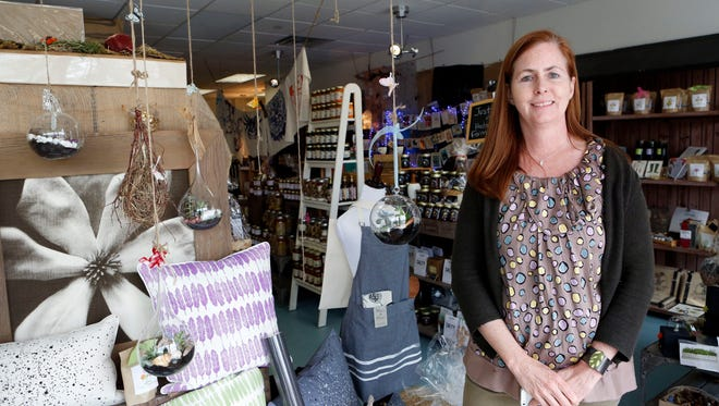 Erin Hinchey, owner of Domestic Dry Goods Company, where everything is made in America, is photographed in Rye Brook.