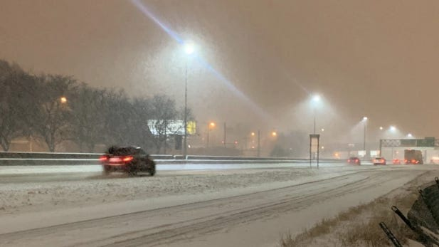 Blowing snow and slippery road conditions are creating hazardous conditions that are impacting the morning commute.