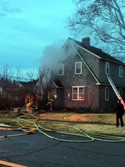 Lancaster fire fighters responded to a house fire at the home of one of the coworkers Monday, Jan. 22, 2018, on Mount Pleasant Avenue in Lancaster.