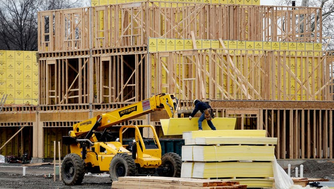 Work continues on a new development in Fair Lawn, N.J. On Tuesday, May 15, the National Association of Home Builders/Wells Fargo releases its May index of builder sentiment.