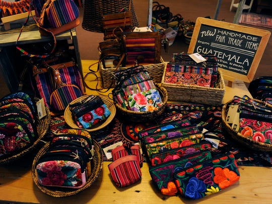 Guatemalan bags on display at Eternal Threads Oct.