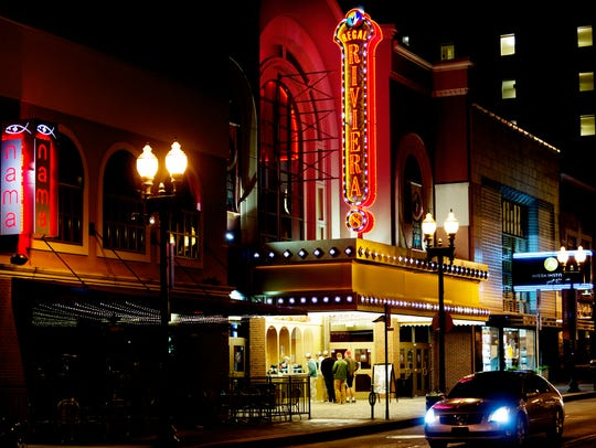 The downtown Regal Cinema on Gay Street in Knoxville,