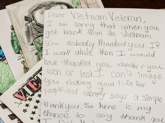 Cards from Centerville-Abington Elementary School students