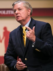 Senator Lindsey Graham speaks with Frank Luntz during