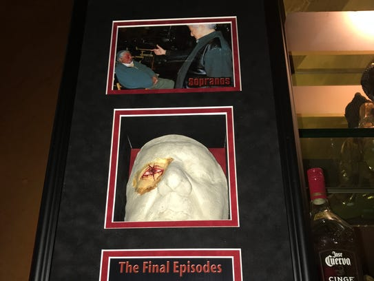 """The prosthetic mask Dr. Dan Conte wore on """"The Sopranos"""""""