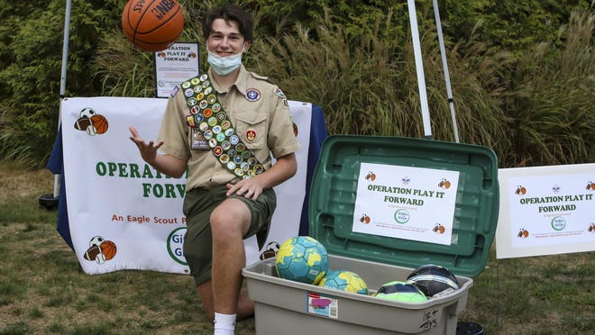 Ethan Meyers loves sports and scouting so when he had to come up with a project to advance to the status of Eagle Scout, he decided to do something sports-related that could help others. He is collecting gently used basketballs, soccer balls, baseballs, softballs and any kind of ball kids can play with. So far he's collected over 100, but that's just a tenth of his goal.