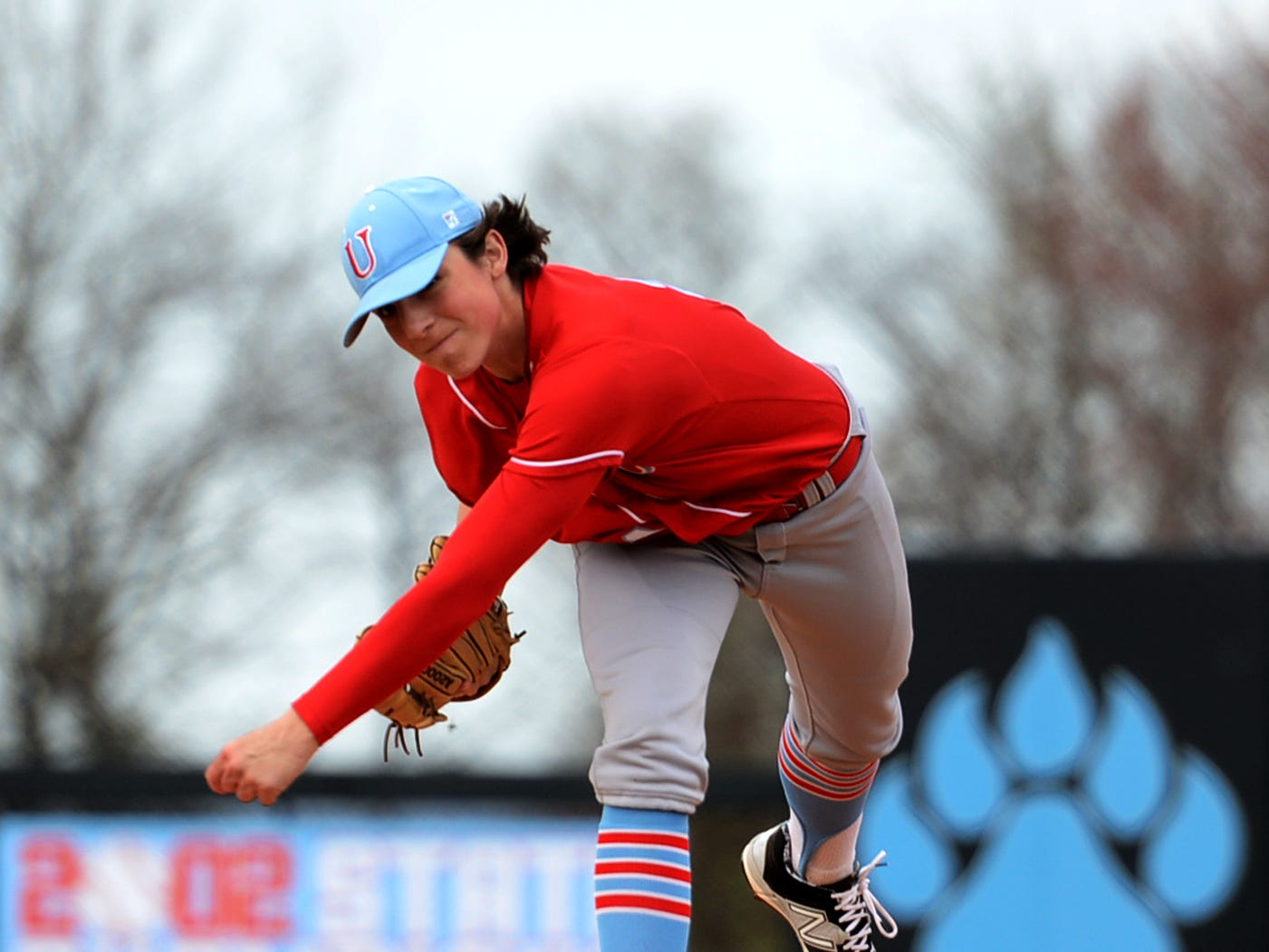 University School of Jackson's Ryan Rolison throws a pitch against Lexington earlier this season.