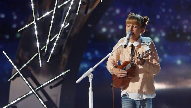Grace VanderWaal sings in the semifinals round of NBC's 'America's Got Talent.'